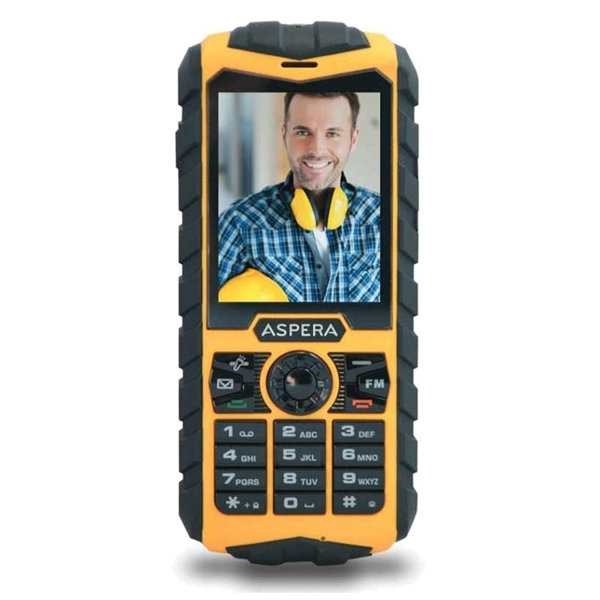 Picture of Aspera R25t (3G, Rugged Phone, IP68) - Yellow/Black