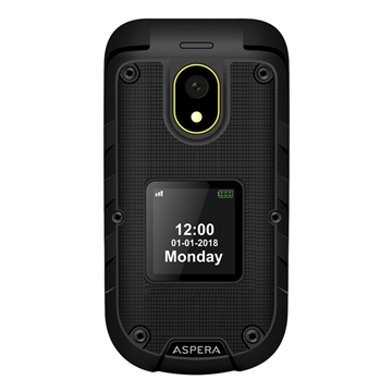 Picture of Aspera R30 Flip (3G, Keypad, Rugged Phone) - Black