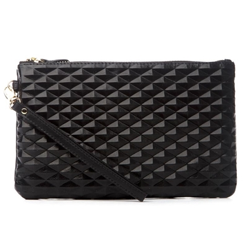 HButler Mighty Purse Phone Charging Wristlet Bag - Diamond Black