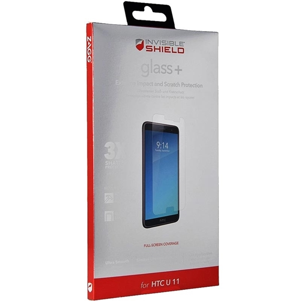 Picture of ZAGG InvisibleShield Glass+ Tempered Glass Screen Protector for HTC U11
