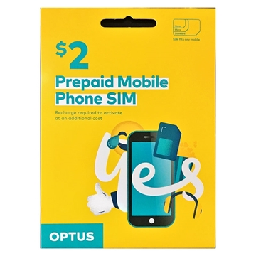 Picture of OPTUS Prepaid Mobile Phone SIM