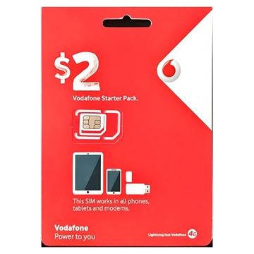 Vodafone $2 SIM Starter Pack