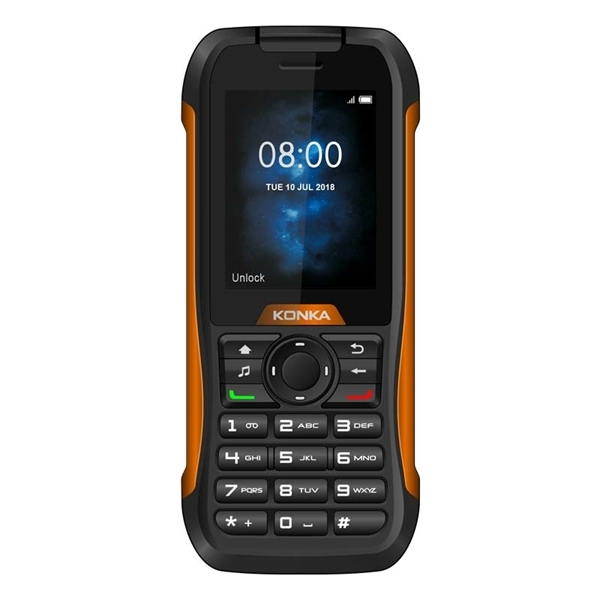 Konka RP1 (3G, Tough Rugged Phone, IP68) - Black Orange
