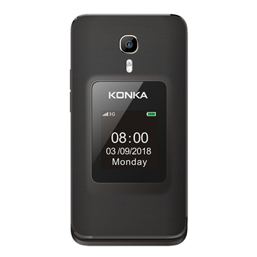 Picture of KONKA FP1 (3G, Senior Phone) - Black/Gold