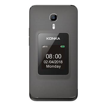 Picture of [Refurbished] KONKA FP1 (3G, Senior Phone)- Space Grey/Black