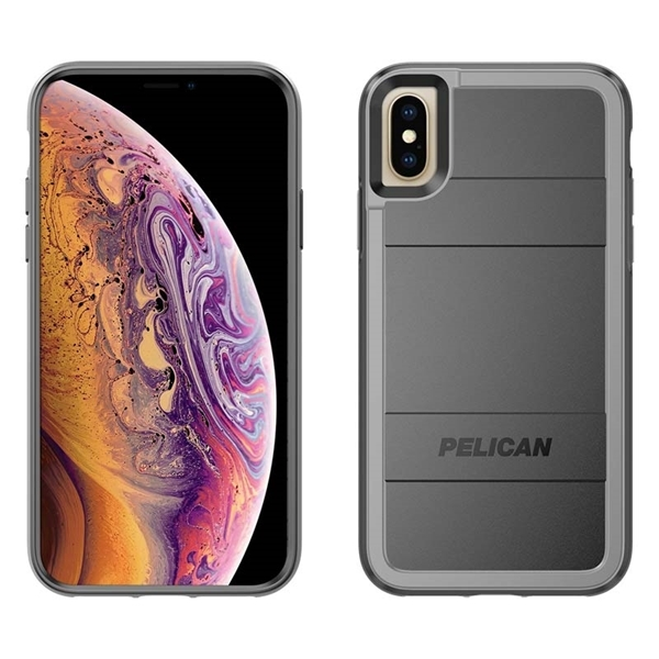 Pelican Protector + AMS iPhone X/XS case - Black/Grey