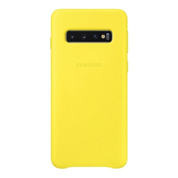Picture of Samsung Galaxy S10 Leather Back Cover - Yellow