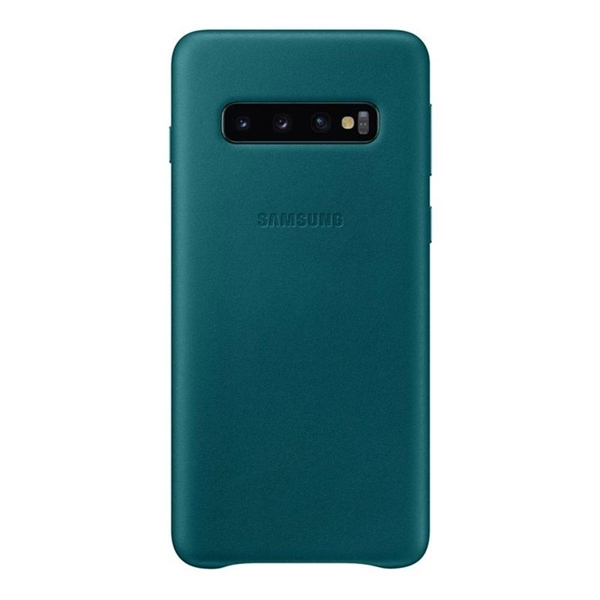 Samsung Galaxy S10 Leather Back Cover - Green