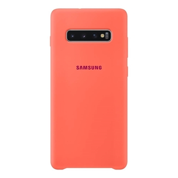 Samsung Silicone Cover for Galaxy S10+ Plus - Pink