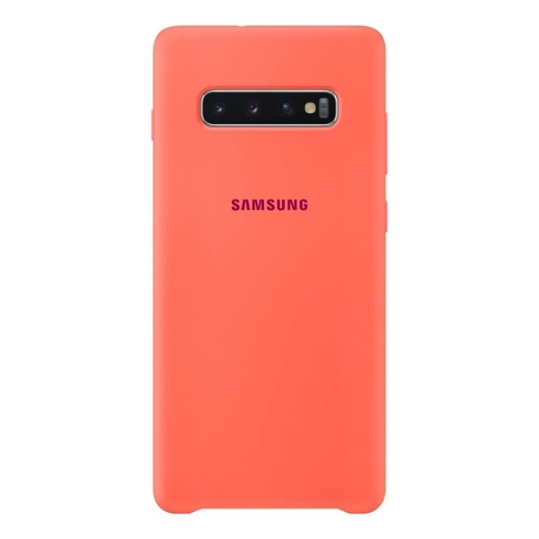 Picture of Samsung Silicone Cover for Galaxy S10+ Plus - Pink