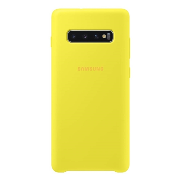 Samsung Silicone Cover for Galaxy S10+ Plus - Yellow