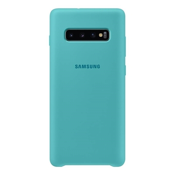 Samsung Silicone Cover for Galaxy S10+ Plus - Green
