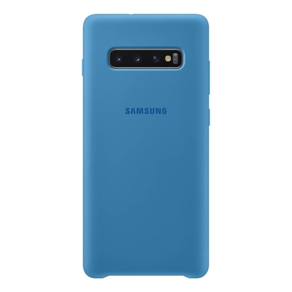 Samsung Silicone Cover for Galaxy S10+ Plus - Blue