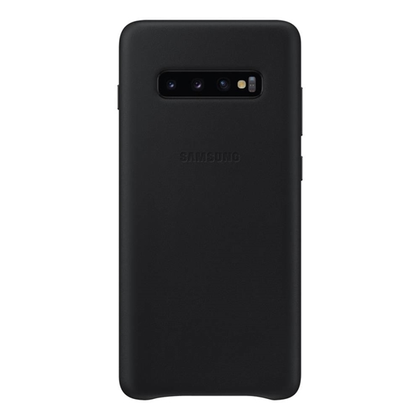 Samsung Leather Back Cover for Galaxy S10+ Plus - Black