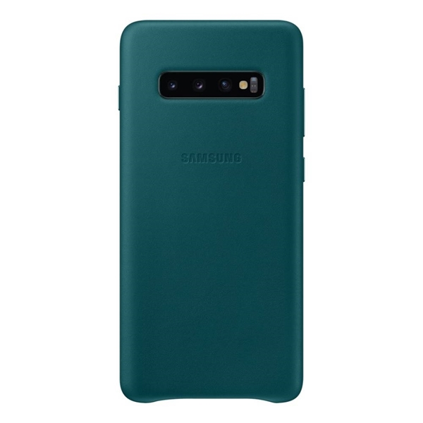 Picture of Samsung Leather Back Cover for Galaxy S10+ Plus - Green