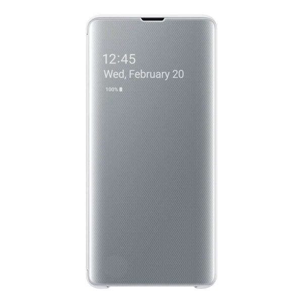 Samsung Clear View Cover for Galaxy S10+ Plus - White