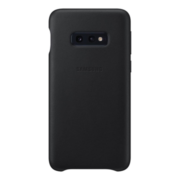 Picture of Samsung Galaxy S10e Leather Back Cover - Black