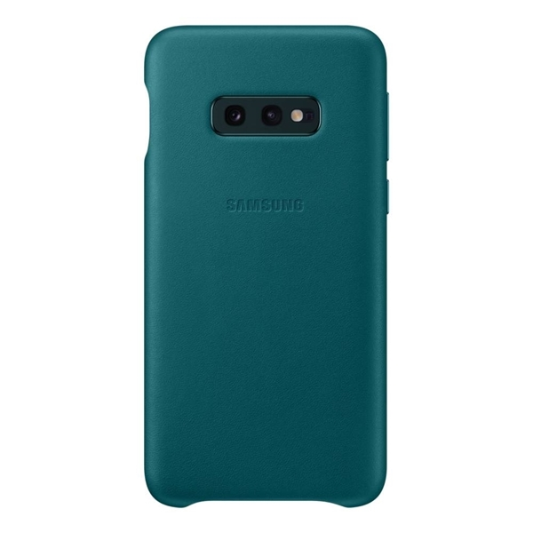 Samsung Galaxy S10e Leather Back Cover - Green