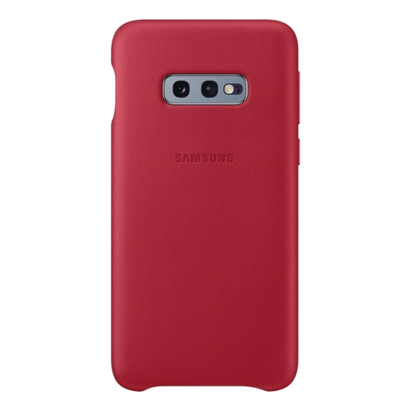 Picture of Samsung Galaxy S10e Leather Back Cover - Red
