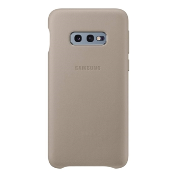 Picture of Samsung Galaxy S10e Leather Back Cover - Grey