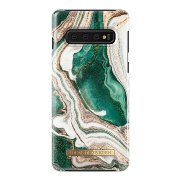 Picture of iDEAL OF SWEDEN for Samsung Galaxy S10 - GOLDEN JADE MARBLE