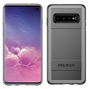 Picture of Pelican Protector + AMS Samsung Galaxy S10 case - Black/Grey