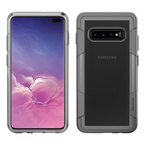 Pelican Voyager case for Samsung Galaxy S10+ Plus - Clear/Grey
