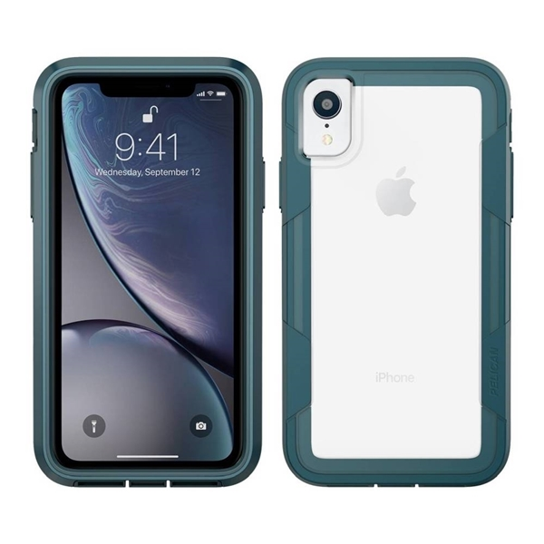 Picture of Pelican Voyager iPhone XR case - Clear/Teal