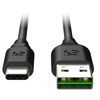 EFM 2M Flipper USB To USB Type-C Charge & Sync Cable - Black
