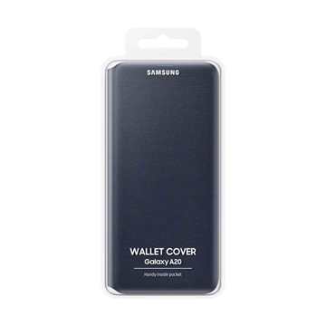 Picture of Samsung Galaxy A20 Wallet Cover EF-WA205PBEGWW - Black