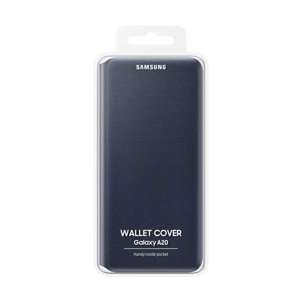 Samsung Galaxy A20 Wallet Cover EF-WA205PBEGWW - Black