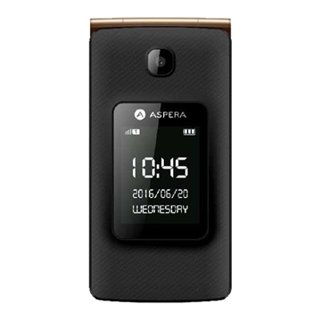 Picture of Aspera F24 (3G, Flip Phone) - Black Gold