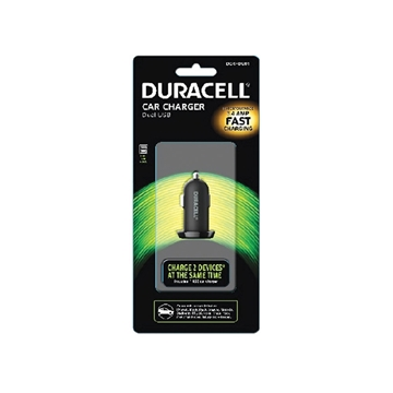 Duracell Car Charger Dual USB 3.4A Fast Charging