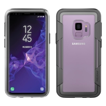 Picture of Pelican Voyager Galaxy S9 case - Clear/Grey