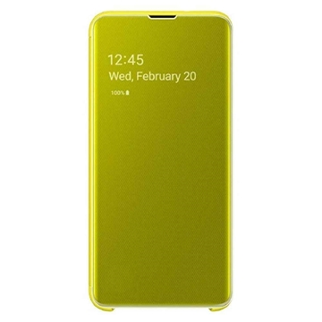 Picture of Samsung Galaxy S10e Clear View Cover - Yellow