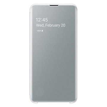 Samsung Galaxy S10e Clear View Cover - White