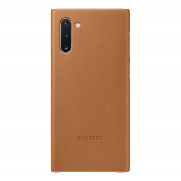 Samsung Galaxy Note10 Leather Back Cover - Brown