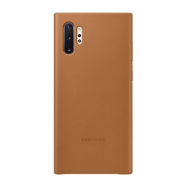 Samsung Leather Back Cover for Galaxy Note10+ Plus - Brown