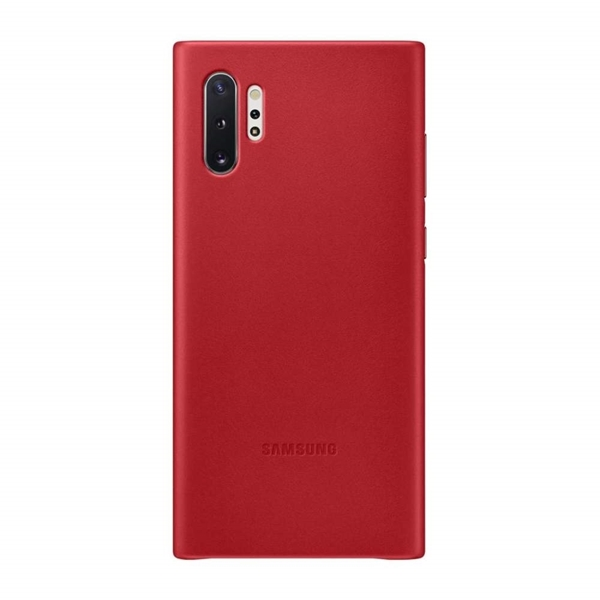 Samsung Leather Back Cover for Galaxy Note10+ Plus - Red