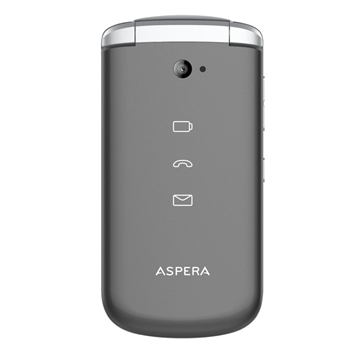 Picture of Aspera F40 (4G, Flip Phone, Senior Phone) - Titanium