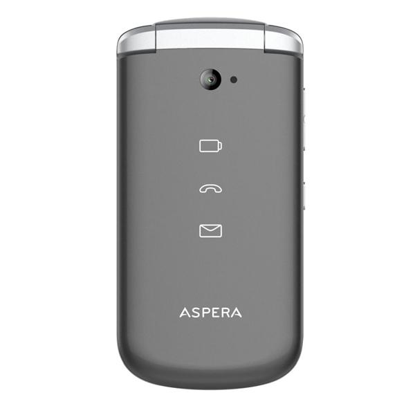Aspera F40 (4G, Flip Phone, Senior Phone) - Titanium