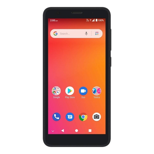 Telstra ZTE Essential Smart 2 (4GX, Blue Tick, Wifi Hotspot, 16GB/1GB) - Black