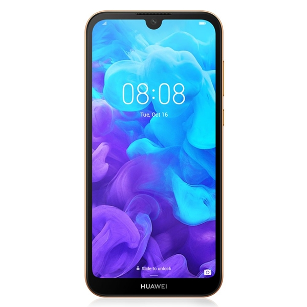 Huawei Y5 2019 (Dual 4G SIM, Faux Leather, 32GB/2GB) - Amber Brown