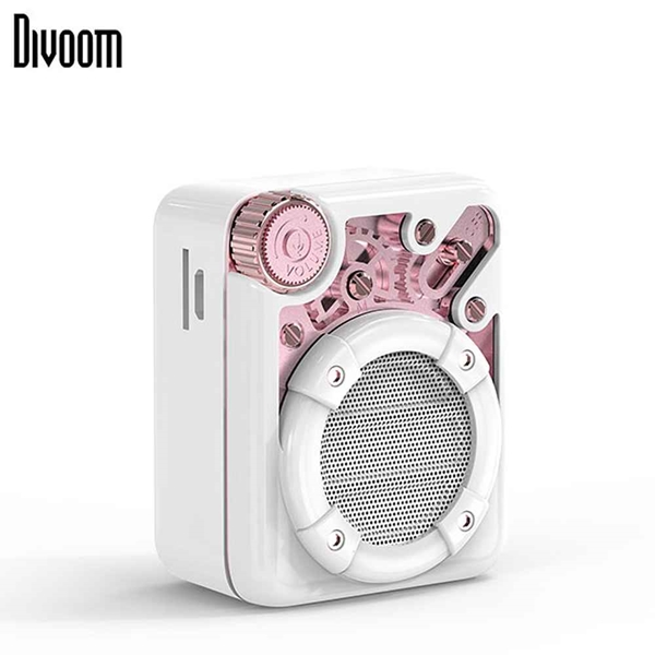 DiVoom Espresso Bluetooth Speaker - White/Rose Gold