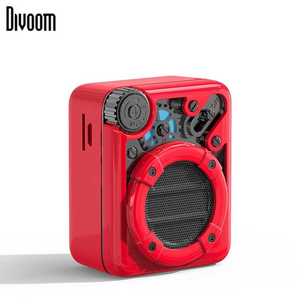 DiVoom Espresso Bluetooth Speaker - Red/Black