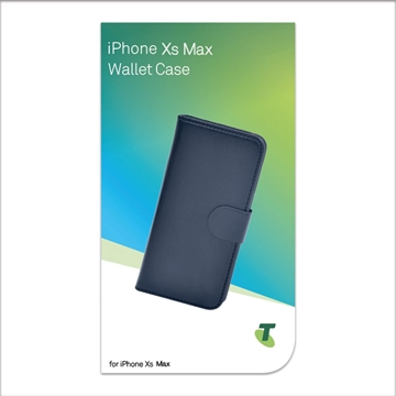 Telstra Wallet Case for iPhone Xs Max- Black