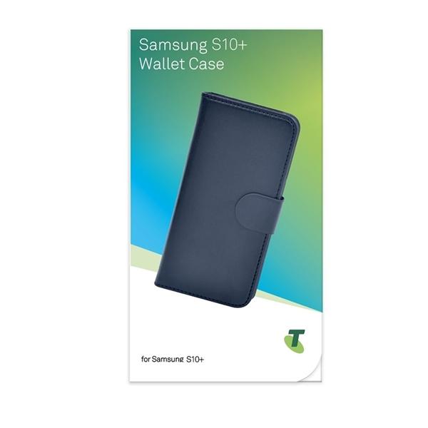 Telstra Wallet Case for Galaxy S10+ Plus- Black