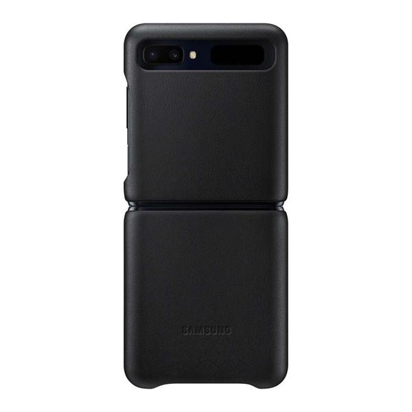 Samsung Galaxy Z Flip Leather Cover EF-VF700LBEGWW - Black