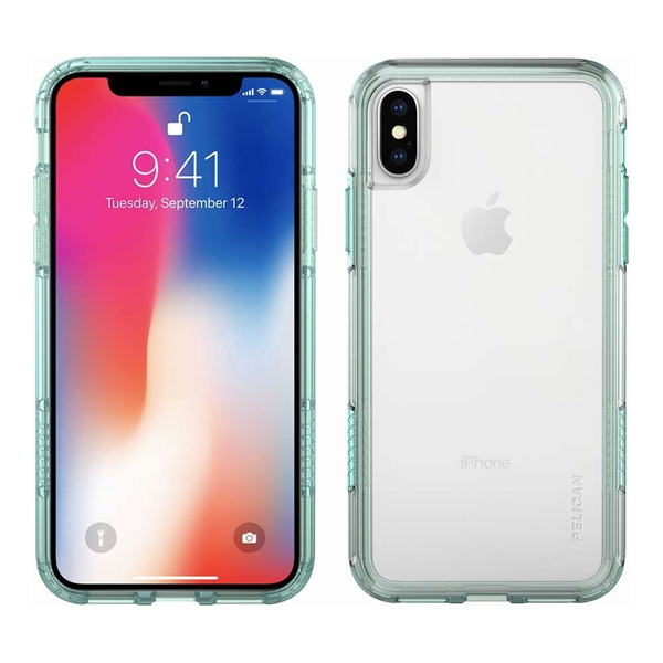 Pelican Adventurer iPhone X/XS case - Clear/Teal
