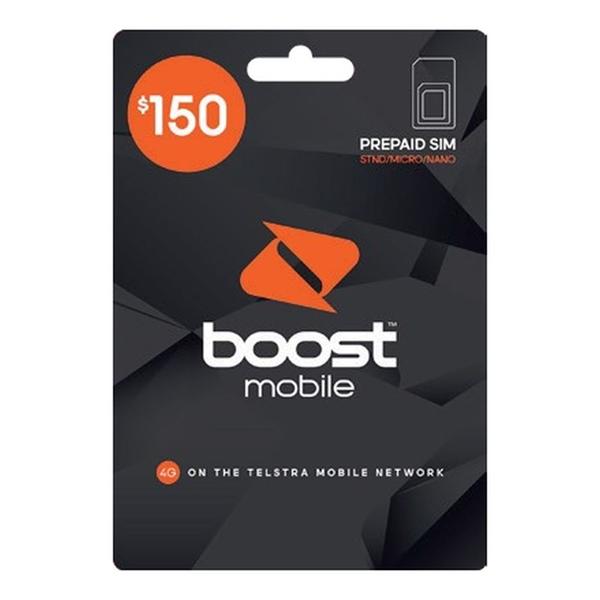 Picture of Boost Mobile $150 Prepaid SIM Starter Kit + Vodafone $30 SIM Bundle - Last Chance